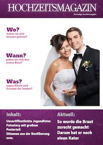 verfgbar als im onlinedesigner - Hochzeitszeitung Beispiele Pdf