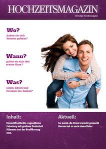 verfgbar als im onlinedesigner - Hochzeitszeitung Beispiele